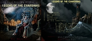 """Have closer look on Twin Scoring Studio's front and back of """"Legend Of The Guardians"""""""