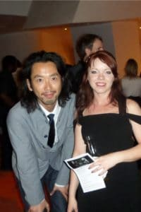 Yuichiro Oku with Merethe Soltvedt, the Baretfoot Queen!