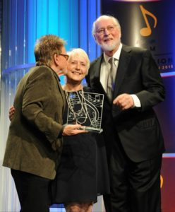 Paul Williams, Nancy Knutsen and John Williams at the 30th ASCAP Film & TV Music Awards.