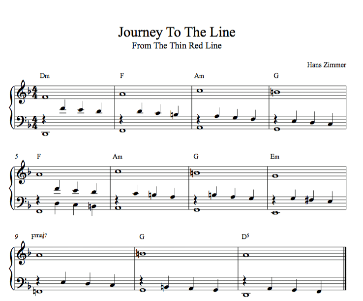 Journey to the line Hans Zimmer