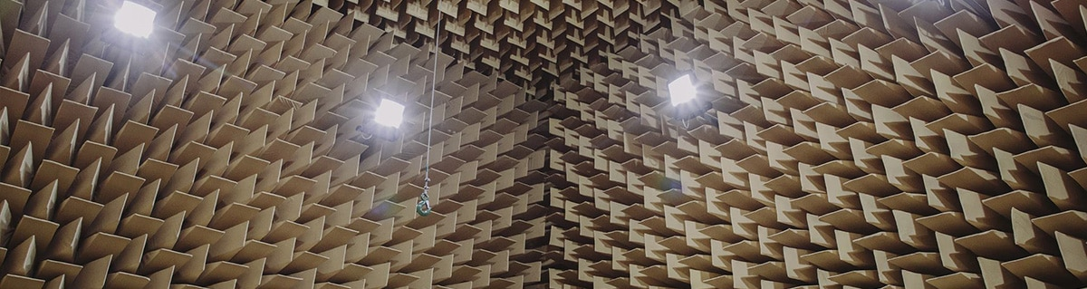 The anechoic chamber of the AGH University of Science and Technology. (Photo Credit: Michal Ramus)