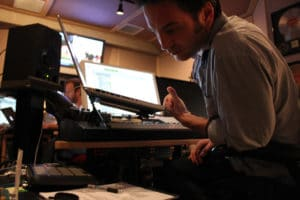 Composer Jeff Russo in his studio.