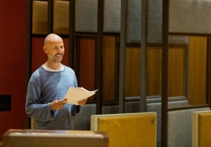 Composer Dominik Scherrer at Angel Studios, London